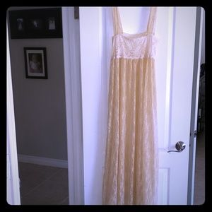 Free people intimates cream lace dress